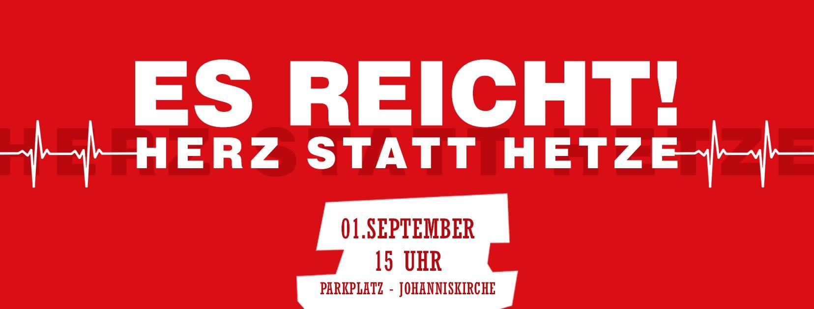"""""""Herz statt Hetze"""": Chemnitzer laden am Samstag zur Gegendemonstration ein"""