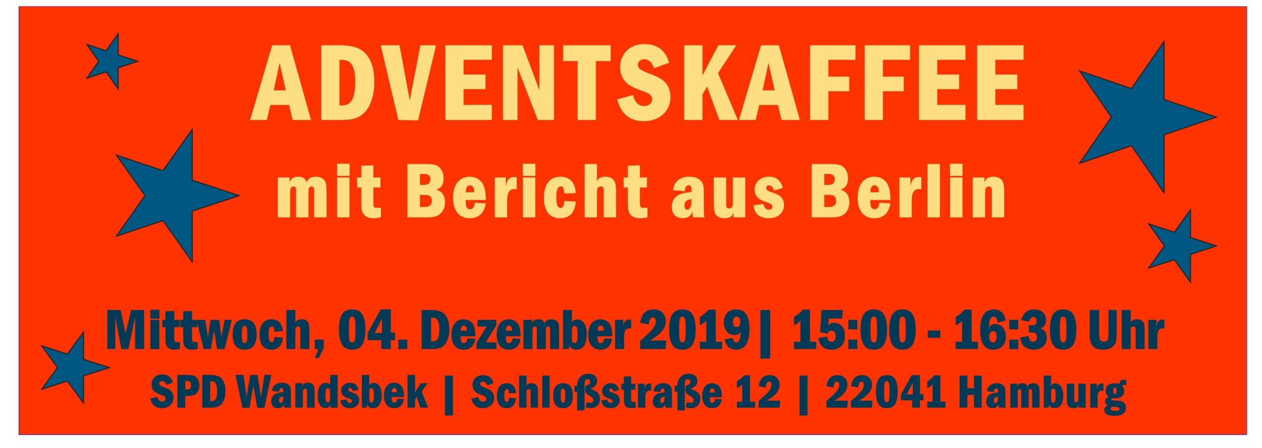Einladung zum Adventskaffee mit Bericht aus Berlin