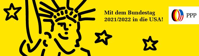 Mit dem Bundestag 2021/2022 in die USA – jetzt bewerben!