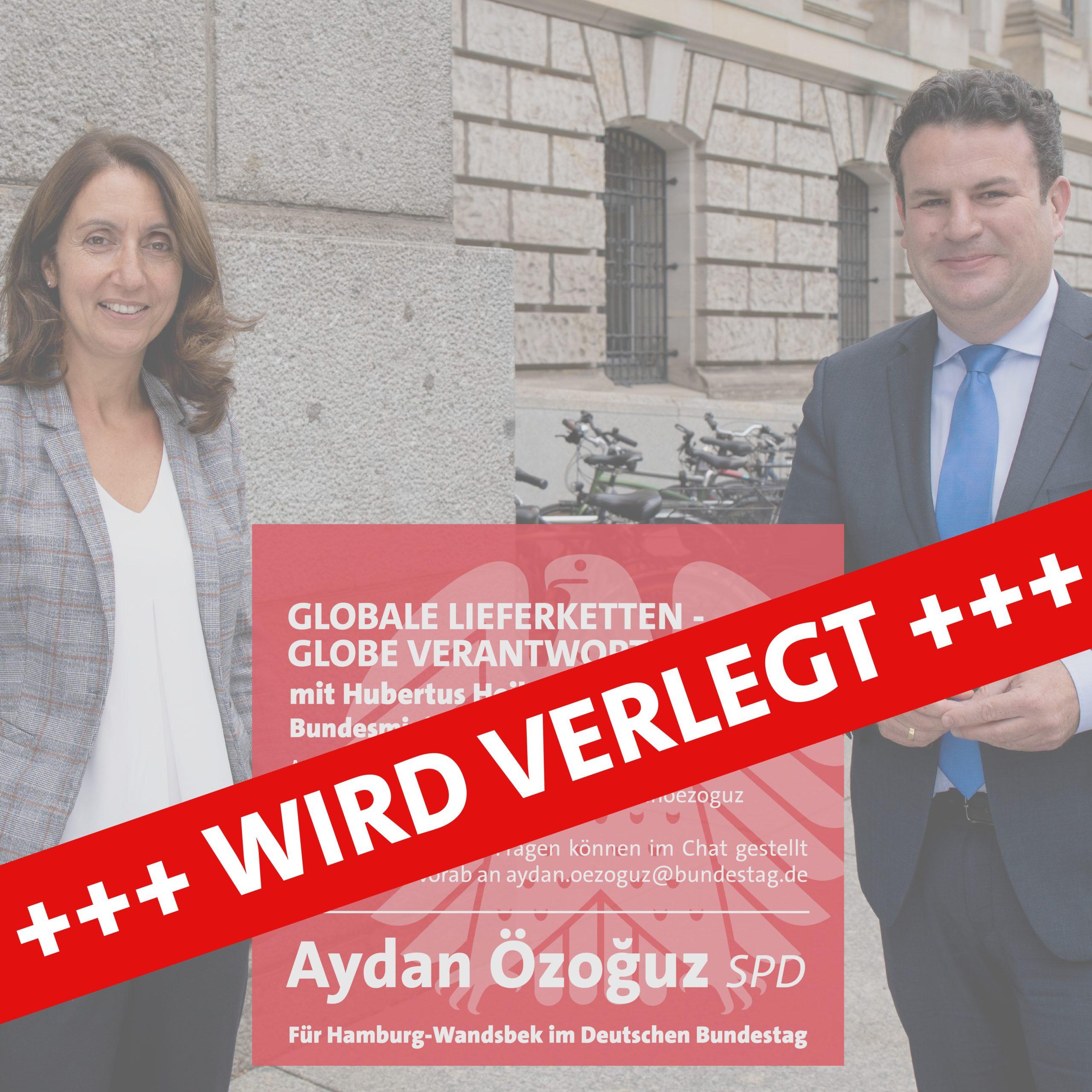 Veranstaltung mit Arbeitsminister Hubert Heil wird verlegt